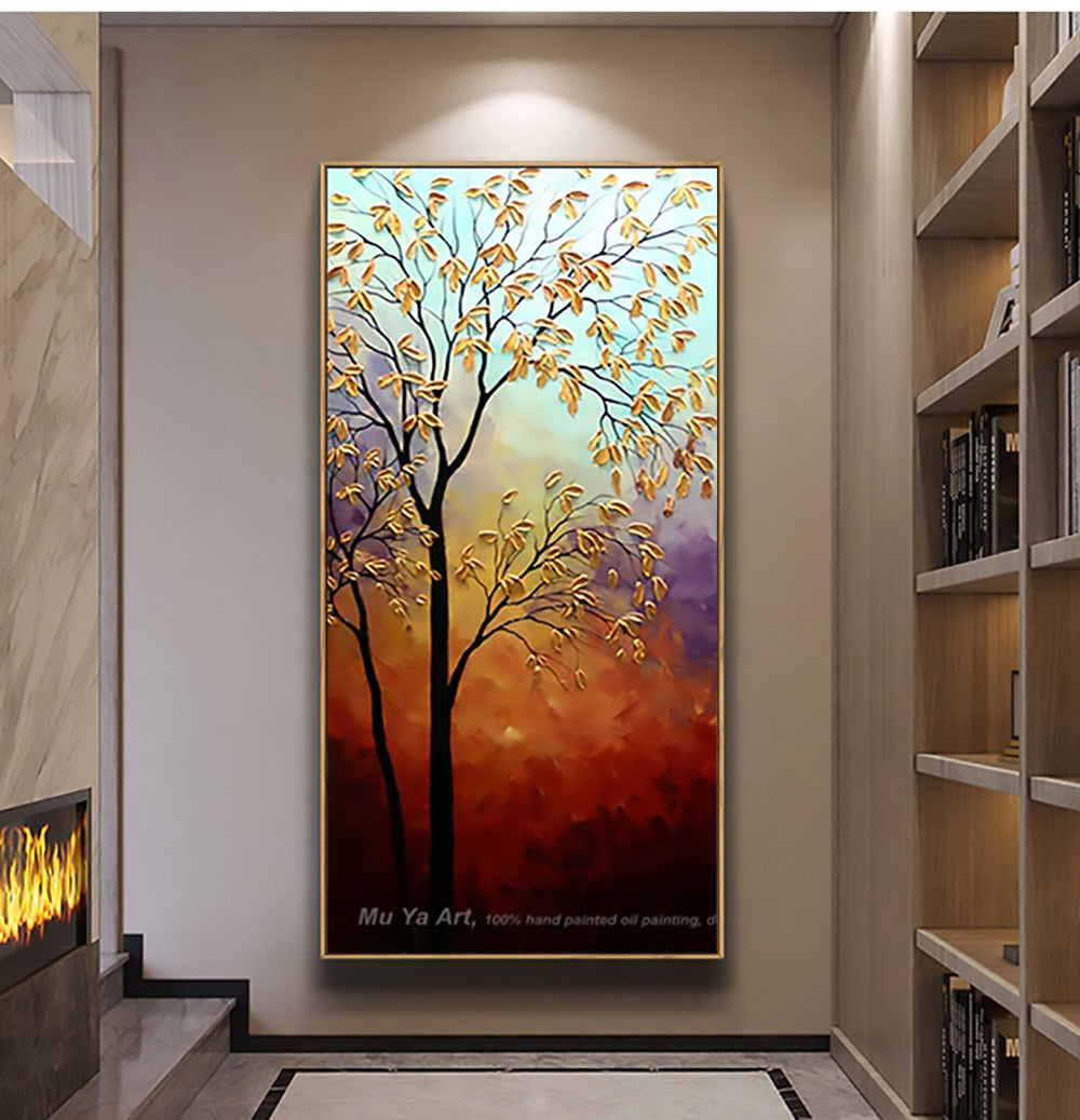 Decorativos picture landscape  tree canvas painting for living room home decor artwork cuadros decoracion salon moderno lienzos - SallyHomey Life's Beautiful