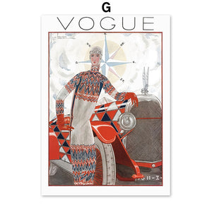 Abstract Vintage Vogue Girl Peacock Mirror Fashion Nordic Posters And Prints Canvas Painting Wall Pictures For Living Room Decor - SallyHomey Life's Beautiful