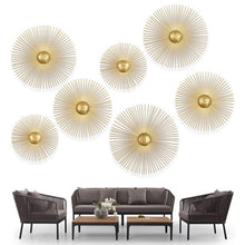 Load image into Gallery viewer, New Unique Circular Metal Led Wall Lamps Foyer Dining Room Bedside Wall Lights Sconce Retro Home Deco Light Fixtures Art Design - SallyHomey Life's Beautiful