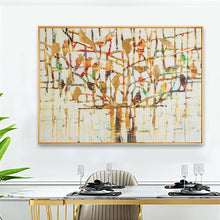 Load image into Gallery viewer, 100% Hand Painted Abstract Bird Tree Oil Painting On Canvas Wall Art Frameless Picture Decoration For Live Room Home Decor Gift