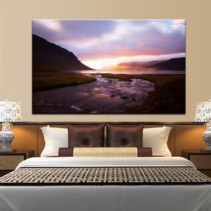 70x100cm - Modern Landscape Canvas Painting Digital Painted - SallyHomey Life's Beautiful