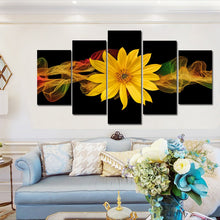 Load image into Gallery viewer, 🔥 Modern Abstract Posters and Prints Wall Art Canvas Painting 5pcs Abstract Yellow Flower Decorative Picture for Living Room Decor - SallyHomey Life's Beautiful