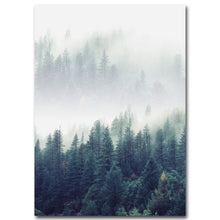 Load image into Gallery viewer, Nordic Decoration Forest Lanscape Wall Art Canvas Poster and Print Canvas Painting Decorative Picture for Living Room Home Decor - SallyHomey Life's Beautiful