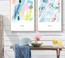 Load image into Gallery viewer, Watercolor Color Blocks Art Canvas Posters Abstract Prints Painting Nursery Wall Art Pictures Children Bedroom Decoration - SallyHomey Life's Beautiful