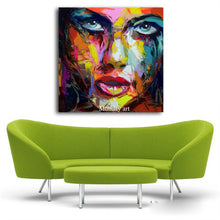 Load image into Gallery viewer, Large Size Hand Painted Abstract Figure Oil Painting On Canvas Woman Face Wall Pictures For Living Room Bedroom Home Decor - SallyHomey Life's Beautiful