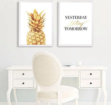 Load image into Gallery viewer, Pineapple Motivational Quotes Minimalist Art Canvas Poster Painting Wall Picture Print Modern Home Office Room Decoration - SallyHomey Life's Beautiful