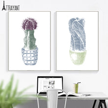 Load image into Gallery viewer, Cartoon Tropical Plant Cactus Flower Wall Art Canvas Painting Nordic Posters And Prints Wall Pictures For Baby Kids Room Decor - SallyHomey Life's Beautiful