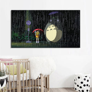 Modern Cartoon Movie Posters and Prints On Canvas Wall Art Canvas Painting Miyazaki Hayao Pictures Deocration For Kids Bedroom - SallyHomey Life's Beautiful