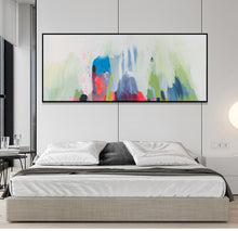 Load image into Gallery viewer, Modern paintings abstract horizontal canvas living room pictures on the wall handmade oil painting wall art watercolor art large - SallyHomey Life's Beautiful