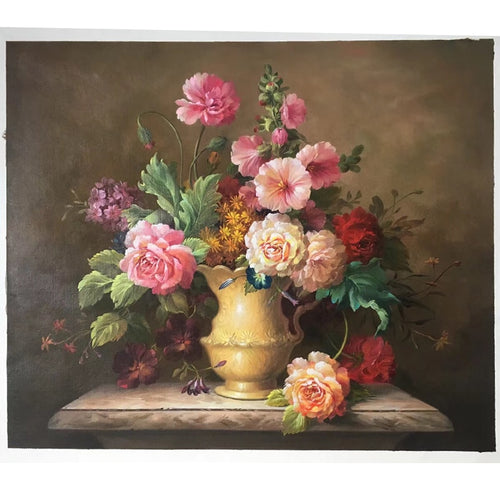 100% Hand Painted Modern Classic Flower Art Oil Painting On Canvas Wall Art Frameless Picture Decoration For Live Room Home Deco