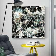 Load image into Gallery viewer, Nordic Abstract Cross - Line Handprint Decorative Painting Posters and Prints Wall Art Canvas Pictures for Living Room Decor - SallyHomey Life's Beautiful