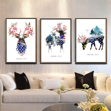 Load image into Gallery viewer, Canvas Painting Digital Printed Abstract Oil Painting Sika Deer Canvas Art Wall Painting for Living Room Home Decor painting - SallyHomey Life's Beautiful