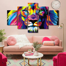 Load image into Gallery viewer, 🔥 Lion  Wall Decor 5 Panels Abstract Watercolor - SallyHomey Life's Beautiful