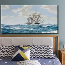 Load image into Gallery viewer, Modern Seascape Posters and Prints Wall Art Canvas Painting Sail the Ocean Wall Pictures for Living Room Home Decor Frameless - SallyHomey Life's Beautiful