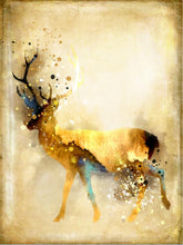 Load image into Gallery viewer, Nordic Abstract Gold Deer Elk Canvas Painting Noble - SallyHomey Life's Beautiful
