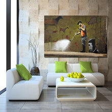 Load image into Gallery viewer, Modern Graffiti Art Painting Mouse Under Umbrella LET THEM EAT CRACK Print Poster Canvas Painting Wall Art Home Decor Frameless - SallyHomey Life's Beautiful
