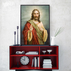 Modern Art Portrait Posters and Prints Wall Art Canvas Painting Jesus Christ Decorative Pictures for Living Room Decor No Frame - SallyHomey Life's Beautiful