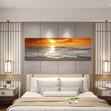 Load image into Gallery viewer, Modern Landscape Posters and Prints Wall Art Canvas Painting Sunrise Landscape at Sea Decorative Paintings for Living Room Decor - SallyHomey Life's Beautiful