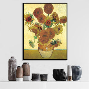 Netherlands Famous Painter Van Gogh Sunflower Oil Painting Poster Wall Art Canvas Pictures for Living Room Home Decor Frameless - SallyHomey Life's Beautiful