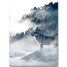 Load image into Gallery viewer, Nordic Art Wolf Snow Mountains Art Canvas Poster Minimalist Print Nature Picture Modern Home Room Decoration - SallyHomey Life's Beautiful