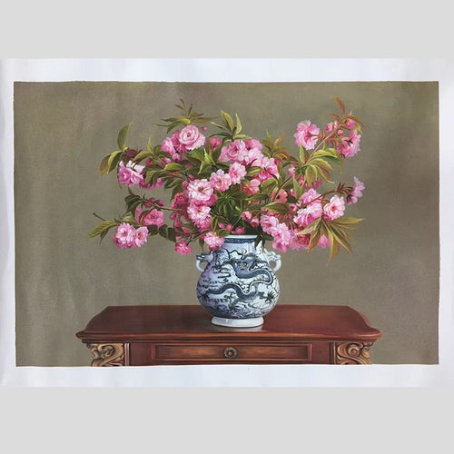 100% Hand Painted Flower Vases Bonsai Oil Painting On Canvas Wall Art Frameless Picture Decoration For Live Room Home Decor Gift