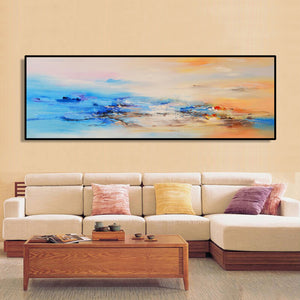 Modern Abstract Oil Painting Posters and Prints Wall Art Canvas Painting Colorful Cloud Pictures for Living Room Decor No Frame - SallyHomey Life's Beautiful