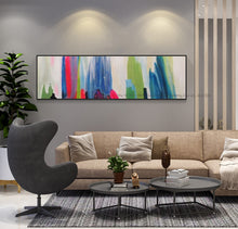 Load image into Gallery viewer, Abstract painting canvas pinturas al oleo abstractas quadro decorativo wall pictures for bedroom horizontal home deco handmade - SallyHomey Life's Beautiful
