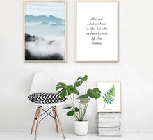 Load image into Gallery viewer, Foggy Mountain Wall Art Canvas Poster Landscape Leaf Nordic Style Print Painting Decorative Picture Modern Home Decor - SallyHomey Life's Beautiful