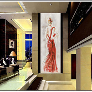 Fashion Women Decorative Pictures for Living Room Home Decor - SallyHomey Life's Beautiful