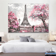 Load image into Gallery viewer, Abstract Landscape Posters and Prints on Canvas Wall Art Oil Painting New York and Paris City View Picture for Living Room Decor - SallyHomey Life's Beautiful