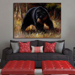 Abstract Animal Posters Print on Canvas Wall Art Canvas Painting Grizzly Bear Pictures Wall Decoration For Living Room Frameless - SallyHomey Life's Beautiful