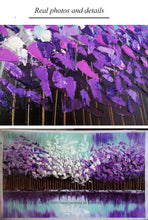 Load image into Gallery viewer, 100% handmade large canvas wall art Modern abstract art acrylic knife painting oil painting purple for living room wall - SallyHomey Life's Beautiful