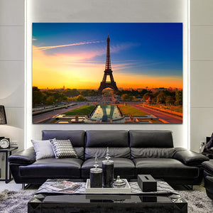 Modern Landscape Posters and Prints Wall Art Canvas Painting Modern Urban Landscape Decorative Painting For Living Room Decor - SallyHomey Life's Beautiful