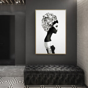 Portrait Posters And Prints Wall Art Canvas Painting Beauty Girl Wall Pictures For Living Room Brief Wall Decoration Frameless - SallyHomey Life's Beautiful