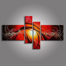 Load image into Gallery viewer, Hand Painted Abstract Oil Paintings On Canvas Red Black White Modern Oil Painting Set Home Decoration Wall Art For Living Room - SallyHomey Life's Beautiful