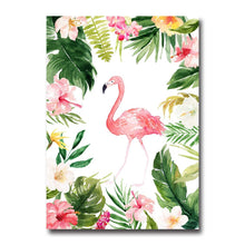 Load image into Gallery viewer, Watercolor Flowers Flamingo Nordic Art Canvas Posters and Prints Landscape Painting Wall Picture for Living Room Home Decor 002 - SallyHomey Life's Beautiful