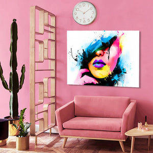 Modern Abstract Posters and Prints Wall Art Canvas Painting Watercolor Women Portrait Decorative Pictures for Living Room Decor - SallyHomey Life's Beautiful