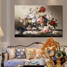 Load image into Gallery viewer, Classic European Still Life Posters and Prints Wall Art Canvas Painting Flowers Arrangement Wall Pictures for Living Room Decor - SallyHomey Life's Beautiful