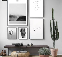 Load image into Gallery viewer, Minimalist Landscape Wall Art Canvas Poster Nordic Style Print Flower Forest Decorative Picture Home Decoration No Frame - SallyHomey Life's Beautiful