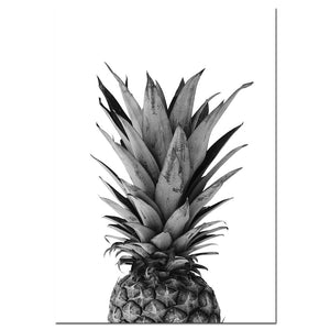 Pineapple Wall Art Canvas Posters Prints Nordic Love Quote Paintings Black White Wall Picture for Living Room - SallyHomey Life's Beautiful