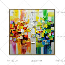 Load image into Gallery viewer, 100% Handmade Canvas Oil Paintings Modern Abstract Palette Knife Oil Painting On Canvas Wall Picture For Living Room Home Decor - SallyHomey Life's Beautiful