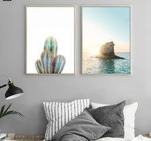 Load image into Gallery viewer, Sea Sunset Motivational Poster Quote Print Nodic Style Wall Art Canvas Painting Cactus Picture Room Decoration Modern Home Decor - SallyHomey Life's Beautiful