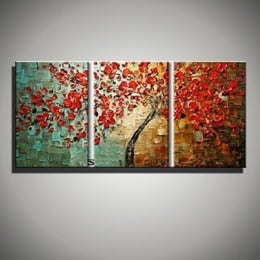 Modern paintings acrylic flower Painting decorative canvas painting abstract art palette knife painting for living room bedroom - SallyHomey Life's Beautiful