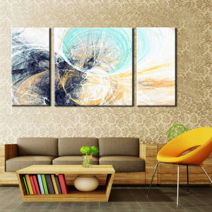 🔥 3Pcs Irregular Color lines Imagination Abstract Wind Tunnel Canvas Painting Wall Art Poster for Living Room Home Decor No Frame - SallyHomey Life's Beautiful