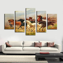 Load image into Gallery viewer, 5Pcs Modern Digital Printed Wall Art Poster Thousands Steeds Gallop Canvas Prints Wall Decoration For Living Room Wall No Frame - SallyHomey Life's Beautiful