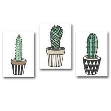 Load image into Gallery viewer, Nordic Art Plant Cactus Canvas Poster Painting Modern Nursery A4 Wall Picture Children Kids Room Decoration Home Decoration - SallyHomey Life's Beautiful