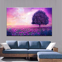 Load image into Gallery viewer, Modern Romantic Sea of Flowers Landscape Canvas Painting Red Love Tree Digital Print Poster Wall Art Picture for Home Decoration - SallyHomey Life's Beautiful