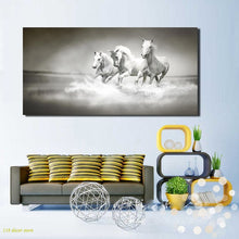 Load image into Gallery viewer, Modern Canvas Painting Galloping Horse Pictures HD Printed Poster On Wall Art Painting for Living Room Home Decor Gift Frameless - SallyHomey Life's Beautiful