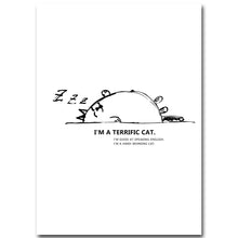 Load image into Gallery viewer, Cartoon Lazy Cat Minimalist Art Canvas Nursery Poster Painting Funny Wall Picture Home Children Room Decoration - SallyHomey Life's Beautiful