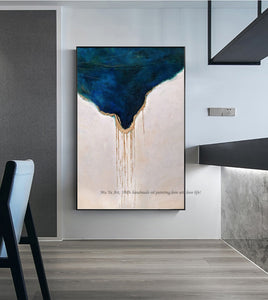 Abstract painting canvas blue large wall art canvas paintings for living room wall hand painted oil painting wall pictures decor - SallyHomey Life's Beautiful
